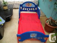 Paw Patrol toddler bed, never used paid 90.$ selling