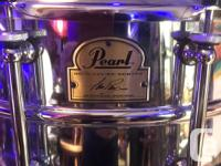 14 x 6 Pearl Ian Paice from Deep Purple Fame signature
