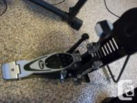 Fully adjustable belt drive pedal with interchangeable