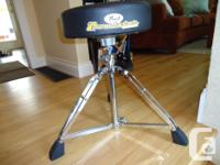 PEARL ROADSTER THRONE DRUM STOOL DOUBLE BRACED TRIPOD