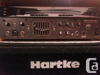 Peavey Bass head, Korg rack tuner, paired with 2x10