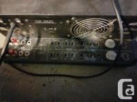 Solid American made Peavey stereo power amplifier. A
