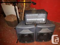 Used, Killer 400 Watt Peavey PA system, never gigged, bought for sale  British Columbia