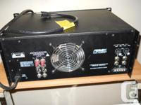 Power amplifier 400 watts x 2 . Bridgeable . Was