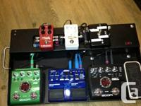 Pro built Pedal board - REDUCED $ 75.00 Alluminum with