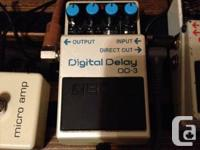 Time to change up the pedalboard.    Boss DD3 Digital