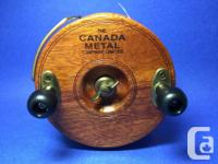 "This is a Peetz 5"" right hand trolling reel which has"