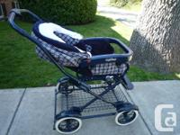 Older model classic style Peg Perego stroller. In great