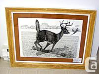 MOUNTED PEN AND INK ORIGINAL POINTILLISM (ALL DOTS)
