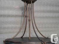 "Gorgeous antique bronze look pendant light, approx. 20"""