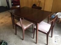 Mid century modern apartment sized dining room table