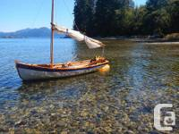 We are selling our wonderful Wooden Sail/Row Boat. The