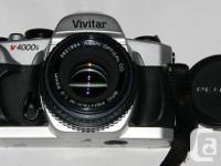 Lens: Pentax-M 50mm f2 Superb.  Physical body: Vivitar