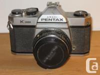Pentax K1000 35mm Video camera with Pentax M 50mm f/2.0 for sale  Quebec