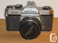 Pentax K1000 35mm Video camera with Pentax M 50mm f/2.0