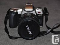 IF, I'm offering SLR Pentax MZ-7 with Sigma 28-200mm
