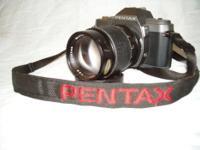 Pentax P30T 35mm SLR camera with GAF 135mm f: 2.8 Tele