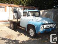 Make Ford Year 1956 Colour blue factory flat deck dump