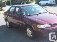 Make Toyota Model Corolla CE Year 1998 Colour Red kms