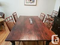 Beautifully maintained custom dining suite from