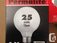 Selling brand new Permalite 25W Globe Light buld 3 for