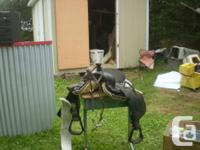 Horse Saddle, never been used, Cordova leather 16 inch