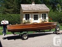 Cedar strip Peterborough watercraft, 'Shore', 15 ft.