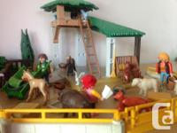 great condition! The playmobil petting zoo with lots of