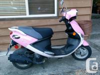 Pink PGO Sport scooter Brand new battery, runs on gas