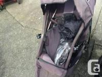A well-used stroller that still has life in it. In