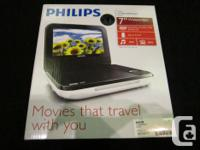 MONEYMAXX HAS A PHILIPS PORTABLE DVD PLAYER FOR SALE.