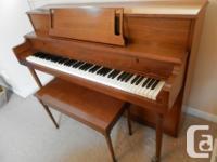 Piano sell add Price: $800 Willis apartment-size piano