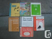 We have various piano books -- prices listed below.