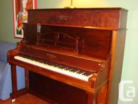 Upright Grand Piano -- J&C Fischer Restored piano with
