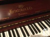 Pick up only, grand piano sound in an upright piano.