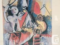 Colourful piece by famous painter Pablo Picasso. Bought