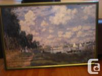 Very nice framed large picture, 2 ft X 3 ft (just the