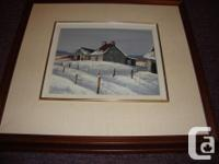 1- Wintertime garden oil painting with timber