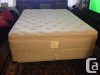 Very clean Very comfy Pillow top sealy Queen size bed