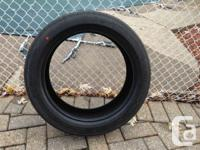Tires are Brand-new and never ever driven on. They came