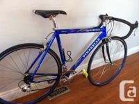 This is a 1999 Pinarello Paris size M.  The bike is