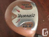 Golf clubs, bag, balls and tees Ping zing 2 irons,