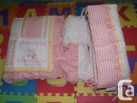 Baby Girl Crib Bedding Set in pink for sale. BABY GUND for sale  Ontario