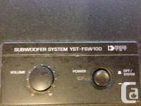 Yamaha Subwoofer (YST-FSW100) & Pioneer Centre speaker