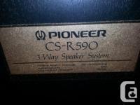 I am selling my Pioneer CS R590 3 way speaker towers.