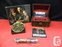 Pirates of the Caribbean BluRay Collectors Chest with for sale  British Columbia