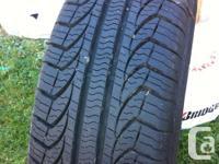 A type of four Pirelli P4 all season tires. Utilized