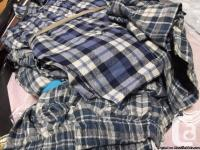 PLAID SHORTS IN BLUE AND GREEN COLOURS