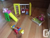 Plan toys dollhouse and accessories for every room.