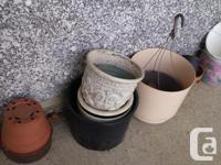 Various plant pots - you choose which ones you want